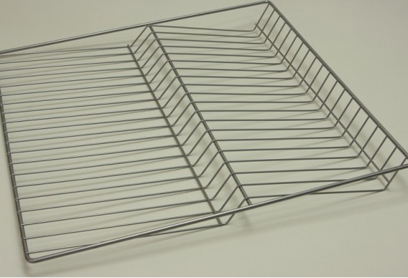 Полка решетчатая для бутылок/обуви, ширина 55 см, платина, Elfa® - фото