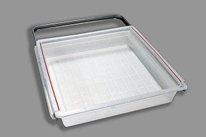 Пластиковая корзина на 1 рельс 45 см, платина, Elfa® - фото
