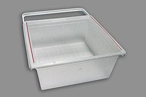 Пластиковая корзина на 2 рельса 45 см, белая, Elfa® - фото