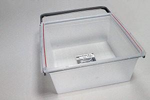 Пластиковая корзина на 2 рельса 45 см, платина, Elfa® - фото