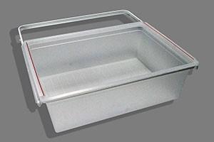 Пластиковая корзина на 2 рельса 60см, белая, Elfa® - фото