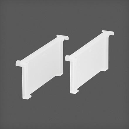 Разделитель для media - корзины 2 шт/упак белый, Elfa® - фото