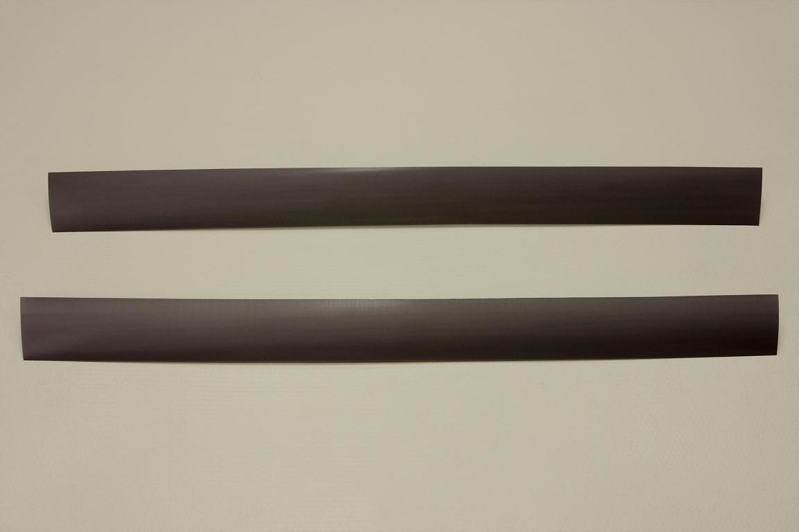 Вставка декоративная в рельс, 60 см, (2 шт/уп), графит, Elfa® - фото