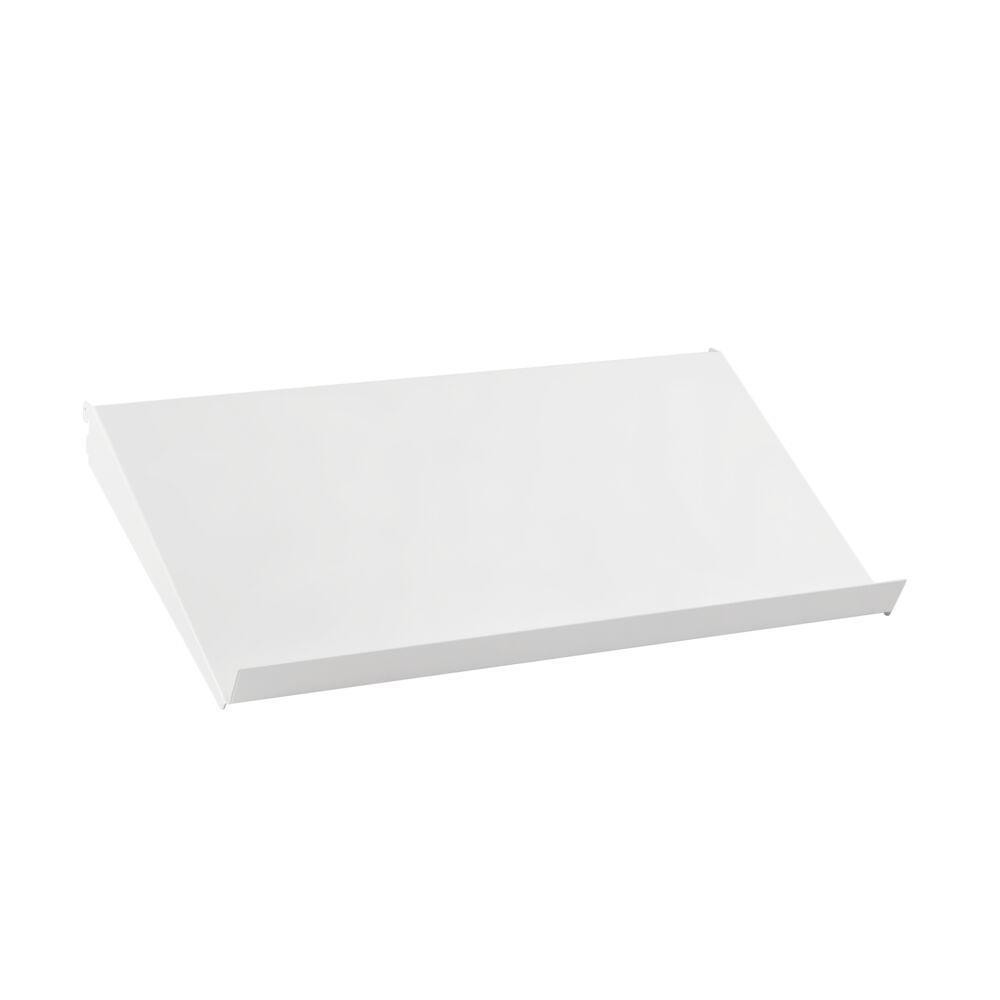 Наклонная металлическая полка 60 см, белый, Elfa® - фото