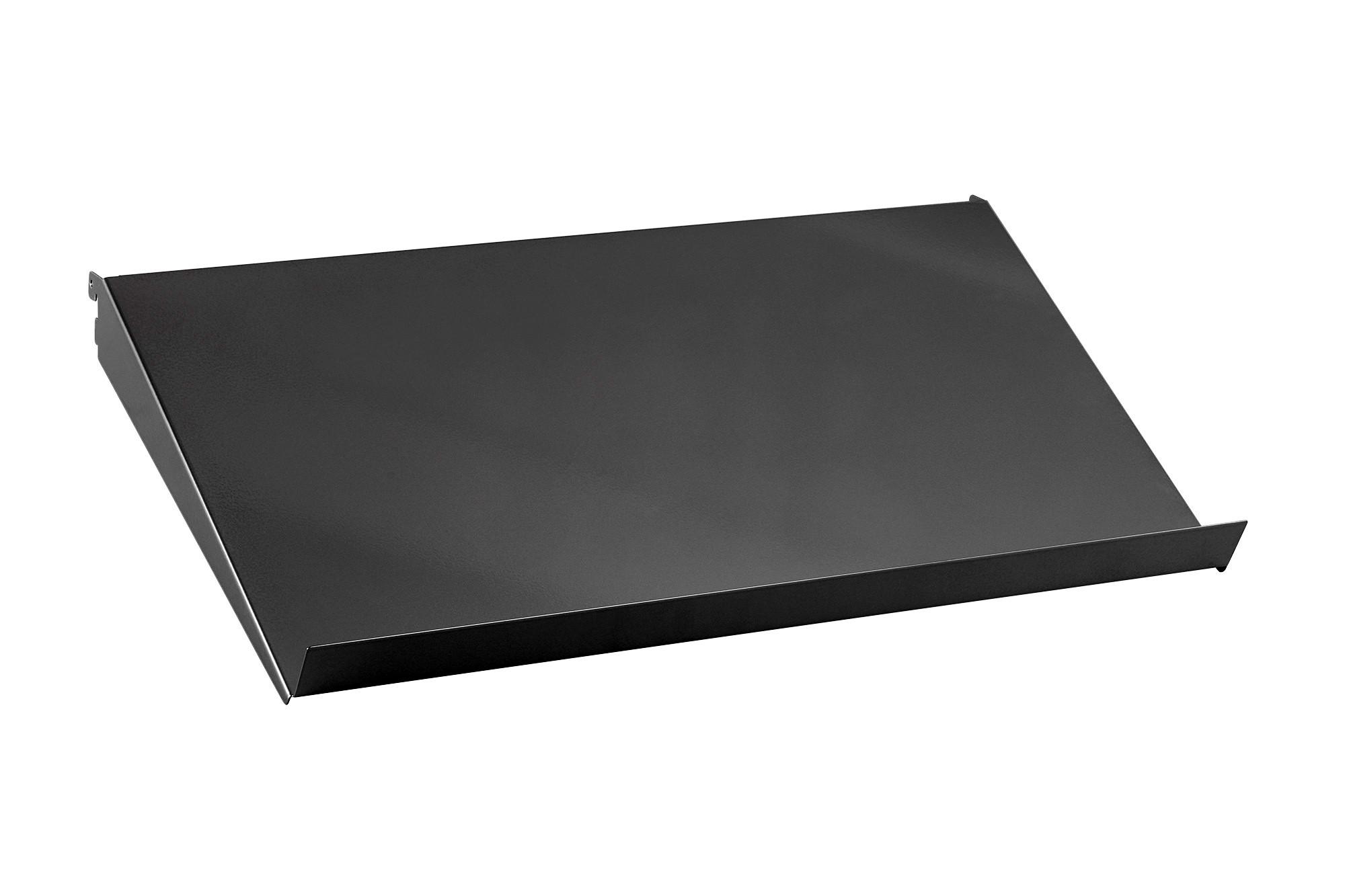 Наклонная металлическая полка, 60 см, графит, Elfa® - фото
