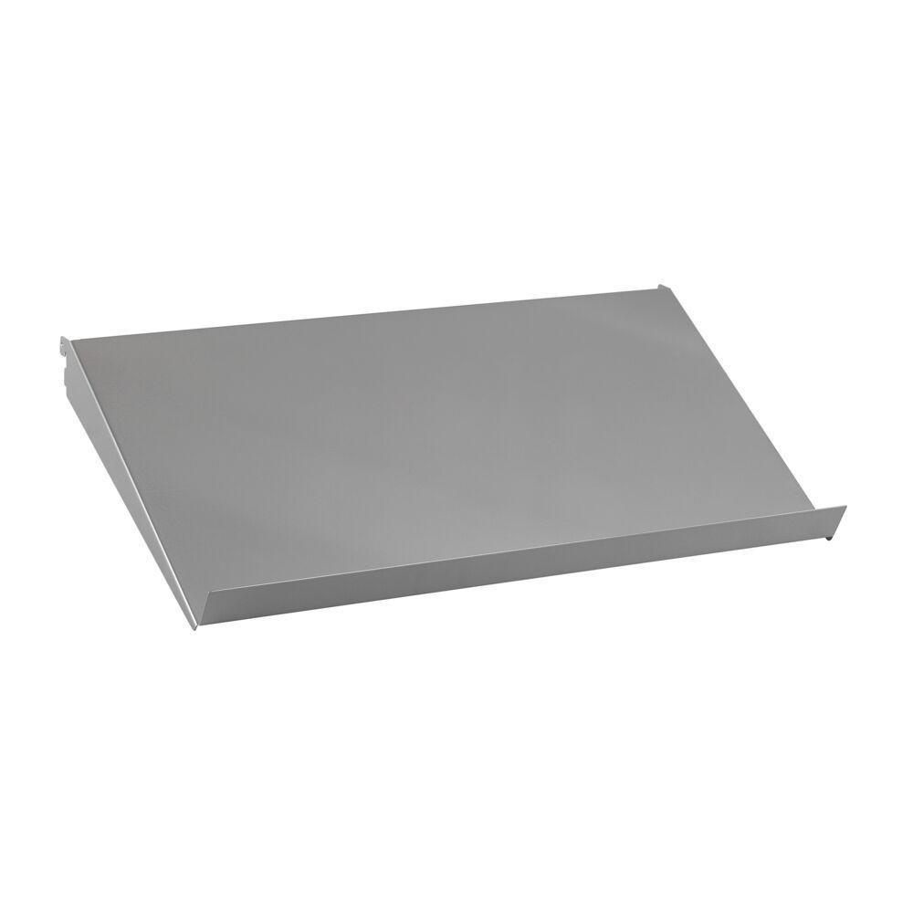 Наклонная металлическая полка 60 см, серый, Elfa® - фото