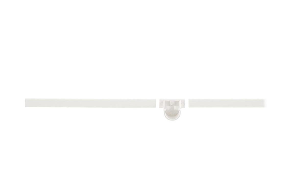 Декоративная заглушка 42 см с держателем для штанги, правая белая, Elfa® - фото