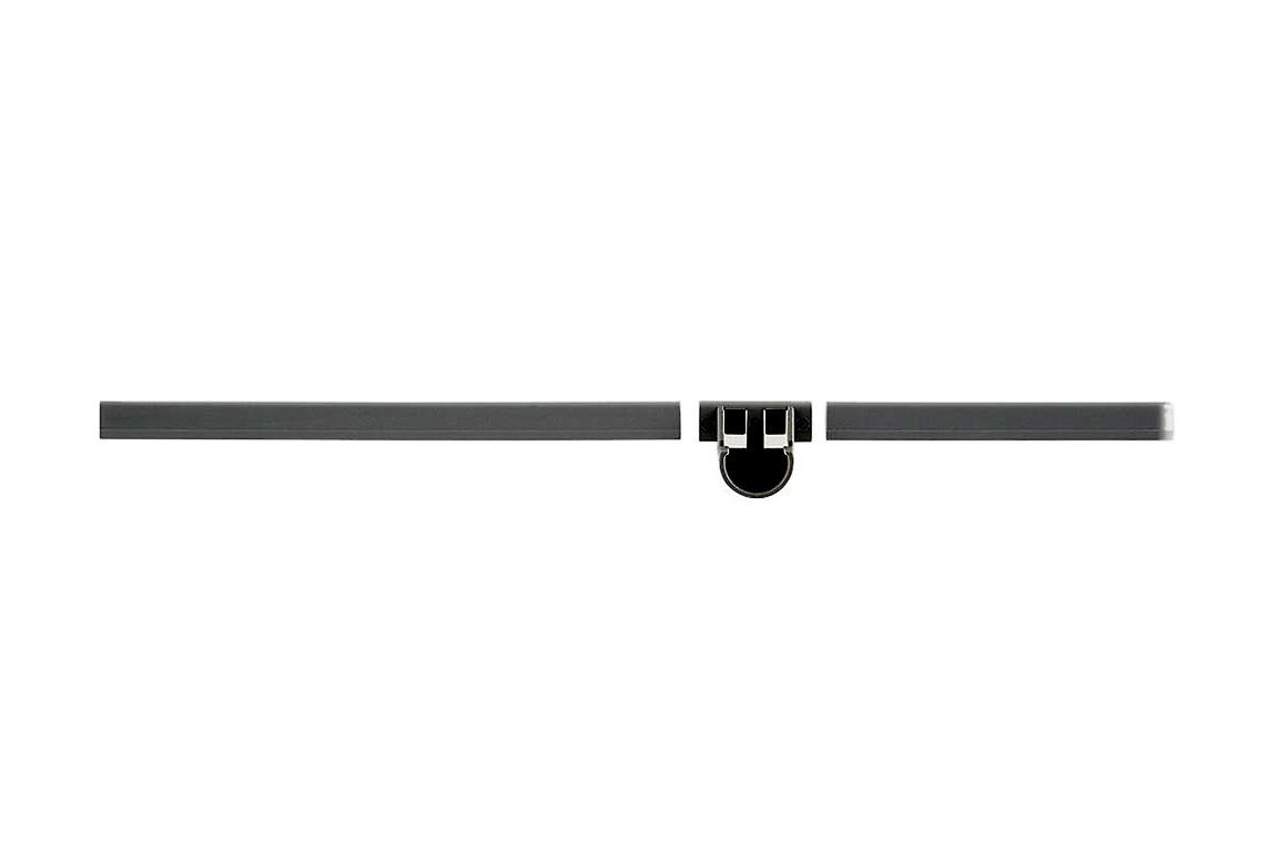 Заглушка 42 см с держателем для штанги, левая, графит, Elfa® - фото