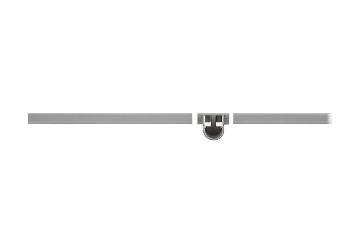 Декоративная заглушка 42 см с держателем для штанги, правая платиновая, Elfa® - фото