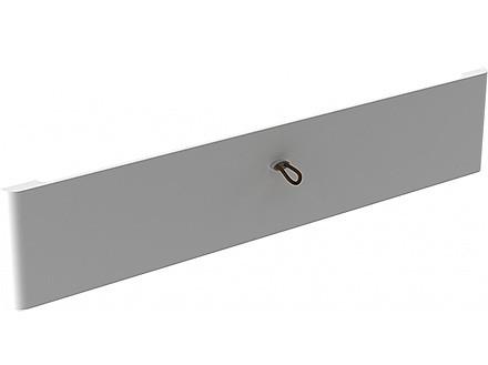 Передняя панель Décor на 1 рельс, белая, Elfa® - фото