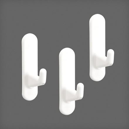 Крючок короткий для перфорированной панели (3 шт/уп) цвет белый, Elfa® - фото