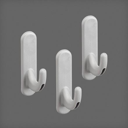 Крючок круглый для перфорированной панели (3 шт/уп) цвет платина, Elfa® - фото