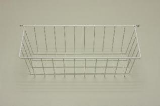 Боковая корзина (стеллаж-стена) 44 (мини), белая, Elfa® - фото