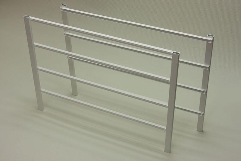 Боковина стеллажа 4 рельса, белая, Elfa® - фото