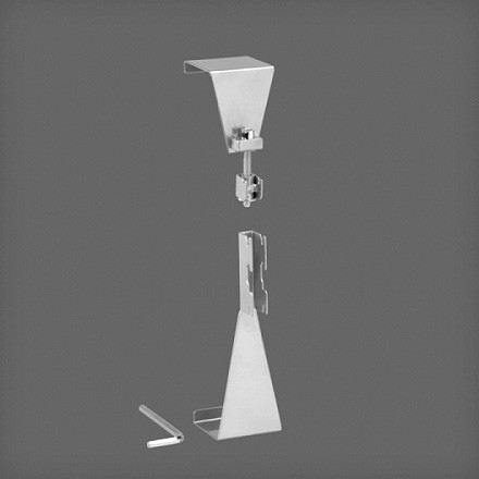 Крепление направляющей на двери, платина, Elfa® - фото