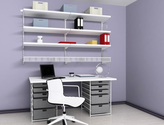 Домашний офис (белый/ДСП), арт. 102102, Elfa® - фото