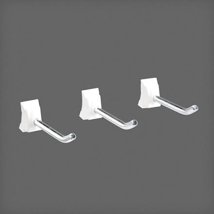 Крючок в рельс, 3 шт/уп, белый, Elfa® - фото