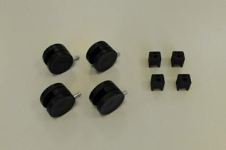 Колесики для стеллажа (4 шт./уп.), черные, Elfa® - фото