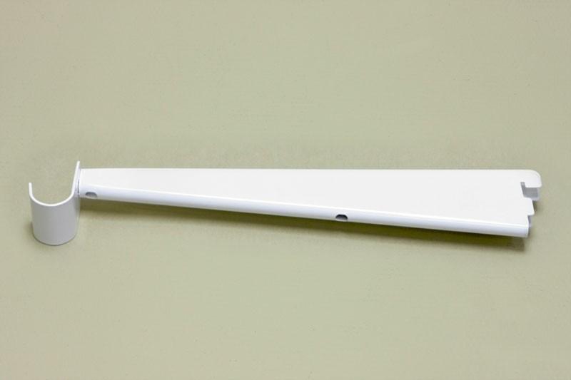 Опора для меламиновой полки 32 см с крючком, белый, Elfa® - фото