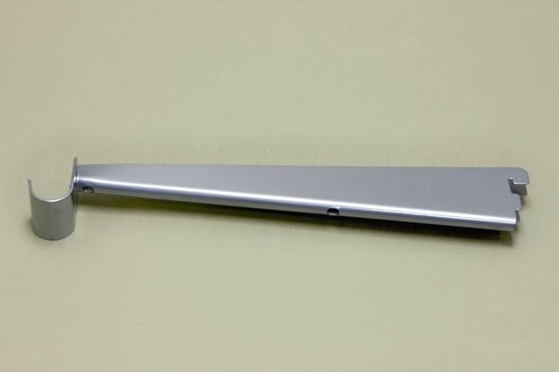 Опора для меламиновой полки 32 см с крючком, платина, Elfa® - фото