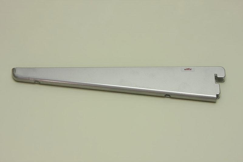 Опора для меламиновой полки 37 см с пазом для подвески, платина, Elfa® - фото