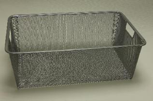 Меш-корзина 327x527x185, платина, Elfa® - фото