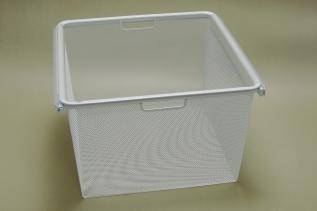 Корзина на 3 рельса Mesh, в сборе с рамой, 449x430x285, белая, Elfa® - фото