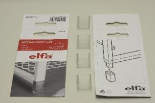 Ножки для стеллажа (4 шт./уп.), полупрозрачные, Elfa® - фото