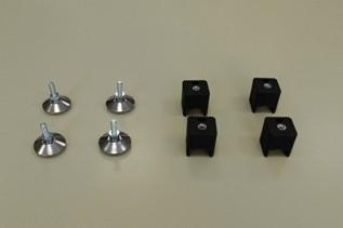 Ножки для стеллажа регулируемые (4 шт./уп.), черные, Elfa® - фото