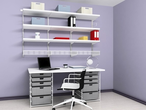 Домашний офис (белый/Decor), арт. 102101, Elfa® - фото