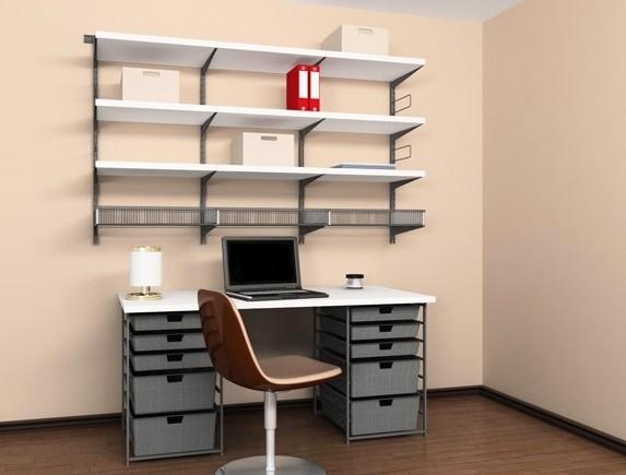 Домашний офис (платина/Decor), арт. 102801, Elfa® - фото