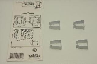 Соединитель стеллажей (4 шт./уп.), белый, Elfa® - фото