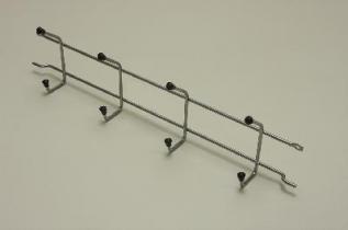 Вешалка с крючками (стеллаж-стена) 44 (мини), платина, Elfa® - фото