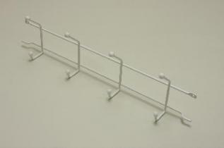 Вешалка с крючками (стеллаж-стена) 44 (мини), белая, Elfa® - фото