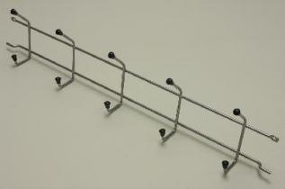 Вешалка с крючками (стеллаж-стена) 54, платина, Elfa® - фото