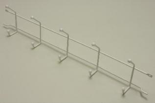 Вешалка с крючками (стеллаж-стена) 54, белая, Elfa® - фото
