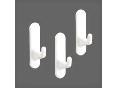 Крючок короткий для перфорированной панели (3 шт/уп) цвет белый