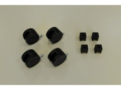 Колесики для стеллажа (4 шт./уп.), черные