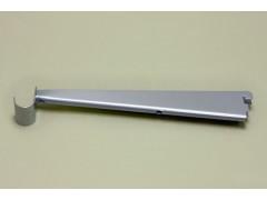 Опора для меламиновой полки 32 см с крючком, платина
