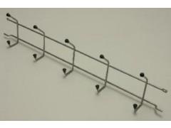 Вешалка с крючками (стеллаж-стена) 54, платина
