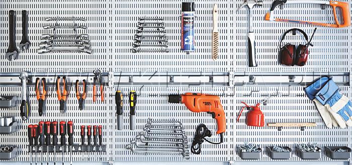Элементы с креплением к перфорированной панели